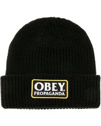 Obey The Damaged Beanie - Lyst