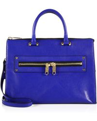 Milly Riley Leather Satchel - Lyst