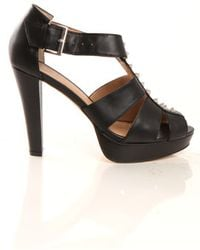 Charlotte Ronson Hayworth Studded Heel in Black - Lyst