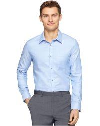 Calvin Klein Two-Tone Dobby Texture Shirt blue - Lyst