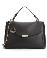 Versace Pebbled Leather Satchelblack - Lyst