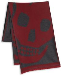 Alexander McQueen Wool Oversized Skull Scarf - Lyst