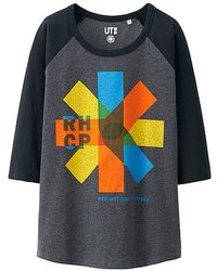 Uniqlo Women Music Icons 3/4 Sleeve Graphic T-Shirt gray - Lyst