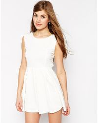 True Decadence Skater Dress With Open Back - Lyst