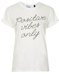 Topshop Petite Positive Vibes Only Tee By Tee And Cake - Lyst