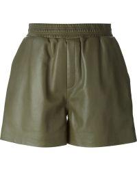 M Missoni Leather Shorts - Lyst