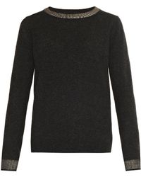 Vince Foil-trim Wool and Yak-blend Sweater - Lyst
