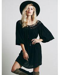 Free People Black Sunshower Dress - Lyst