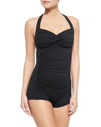 Seafolly Goddess Boyshort One-Piece - Lyst