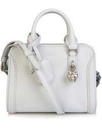 Alexander McQueen Padlock Mini Leather Cross-Body Bag - Lyst