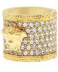 Versace Medusa Crystal-embellished Ring - Lyst