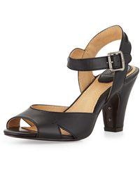 Frye Skyler Seamed Leather Sandal - Lyst