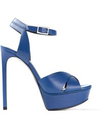 Saint Laurent Platform Sandals - Lyst