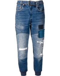 Greg Lauren | Moto Patchwork Jeans | Lyst