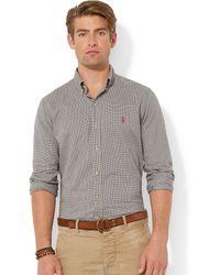 Polo Ralph Lauren Checked Poplin Shirt - Lyst