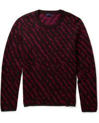 Lanvin Animalintarsia Wool Jacquard Sweater - Lyst