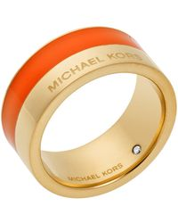 Michael Kors Color Block Ring gold - Lyst