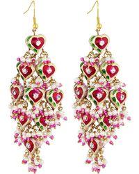 Chamak by Priya Kakkar - Diamond-shape Tiered Earrings - Lyst