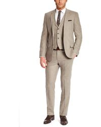 Hugo Boss Hattrick/Final We | Slim Fit, Stretch Italian Virgin Wool And Angora 3-Piece Suit - Lyst