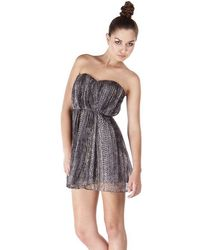 Twelfth Street by Cynthia Vincent Strapless Dress in Lurex Snake - Lyst