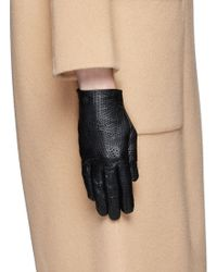 Georges Morand - Dot Perforation Kid Leather Gloves - Lyst