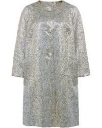 Helene Berman Lizard Swing Coat - Lyst
