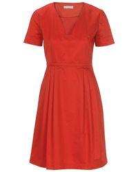 Stefanel Short-Sleeve Cotton Dress - Lyst