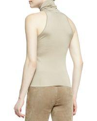 Ralph Lauren Collection Sleeveless Silkcashmere Turtleneck Top Clay - Lyst