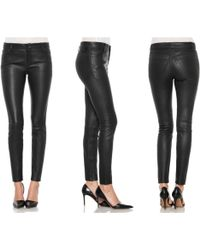 Joe's Jeans Leather Skinny Ankle - Lyst