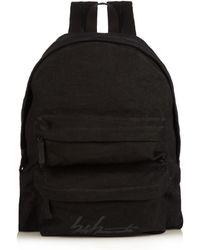 Yohji Yamamoto - Logo-printed Linen Backpack - Lyst 1a41cbaa24
