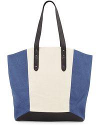 Romy Gold - Metallic Color Block Tote Bag - Lyst