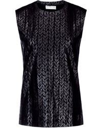 Balenciaga Mini Knit Sleeveless Top - Lyst
