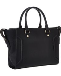 Calvin Klein Saffiano Leather Satchel - Lyst