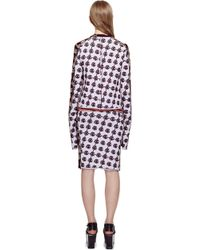 Sonia Rykiel Bicolor Double Face Jacquard Rose Skirt - Lyst