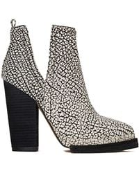 Nasty Gal Jeffrey Campbell Whos Next Leather Boot Blackwhite - Lyst