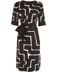 Jaeger Zig Zag Print Dress - Lyst