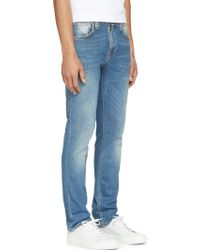 Nudie Jeans Blue Faded Thin Finn Jeans - Lyst