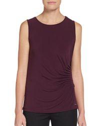 Calvin Klein Sideruched Camisole Top - Lyst