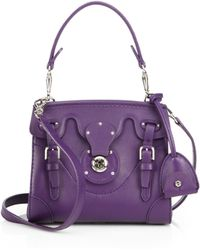 Ralph Lauren Collection Soft Ricky Nappa Leather Satchel - Lyst