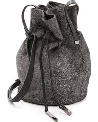 Halston Heritage Embossed Bucket Bag Black - Lyst