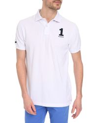 Hackett White Classic Number Polo Shirt - Lyst
