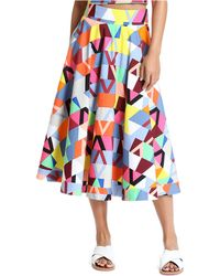 Plenty by Tracy Reese | Geo-Stripe Circle Skirt | Lyst