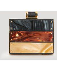 Halston Heritage Clutch - Box Metal Plaque - Lyst