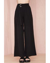 Nasty Gal Go with The Flowy Pants  Black - Lyst