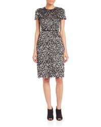 Burberry Prorsum   Fringed Animal-print Dress   Lyst