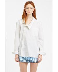 Ashish Asymmetrical Cotton Shirt - Lyst