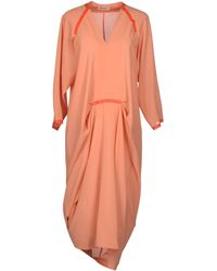 Henrik Vibskov Knee-Length Dress orange - Lyst