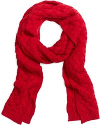 Brooks Brothers Cable Knit Scarf - Lyst