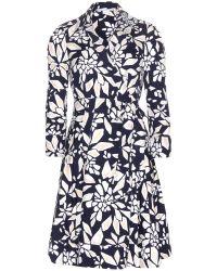 Diane von Furstenberg Jadrian Cotton Wrap Dress - Lyst