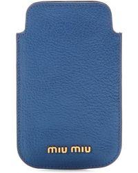 Miu Miu Leather Iphone Case - Lyst